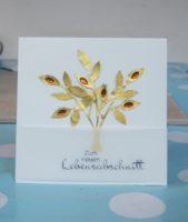 Geburtstagskarte Goldener Baum