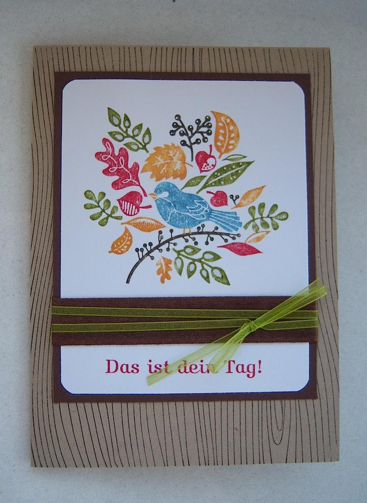 Geburtstag - Geburtstagskarte Herbstblatt