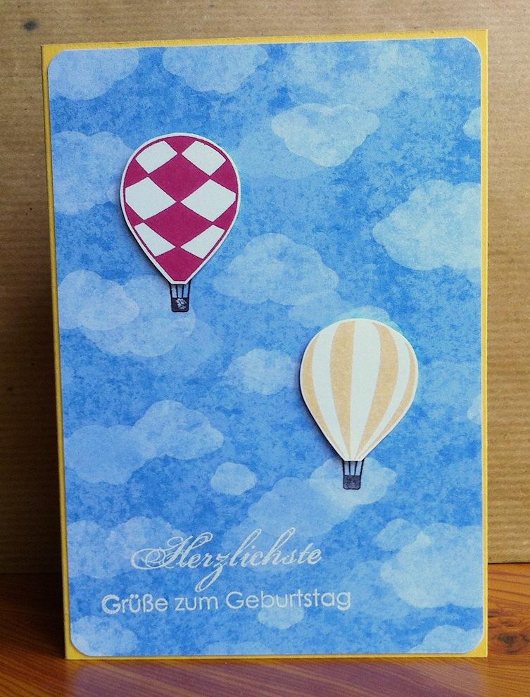 Geburtstag - Geburtstagskarte Himmel Ballons