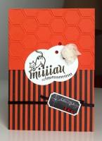 Geburtstagskarte Katze rot