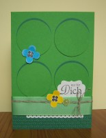 Geburtstagskarte Kreise gruen