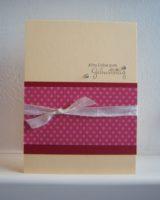 Geburtstagskarte Punkte rosa