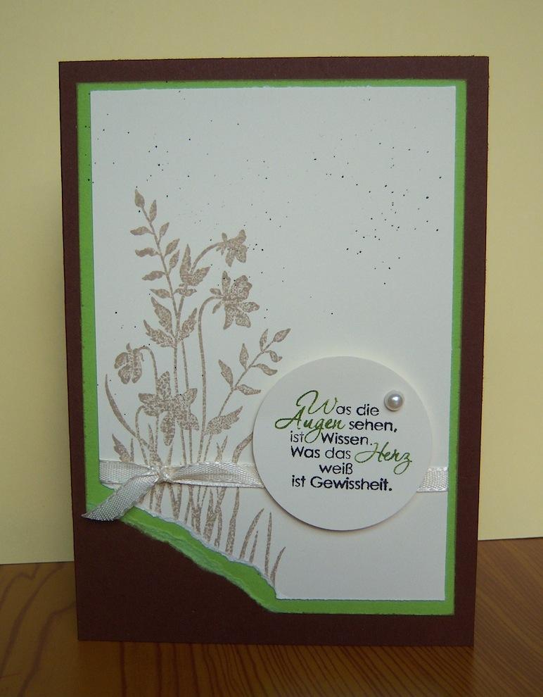Geburtstagskarte Schattenblumen