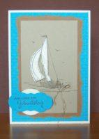 Geburtstagskarte Schiff
