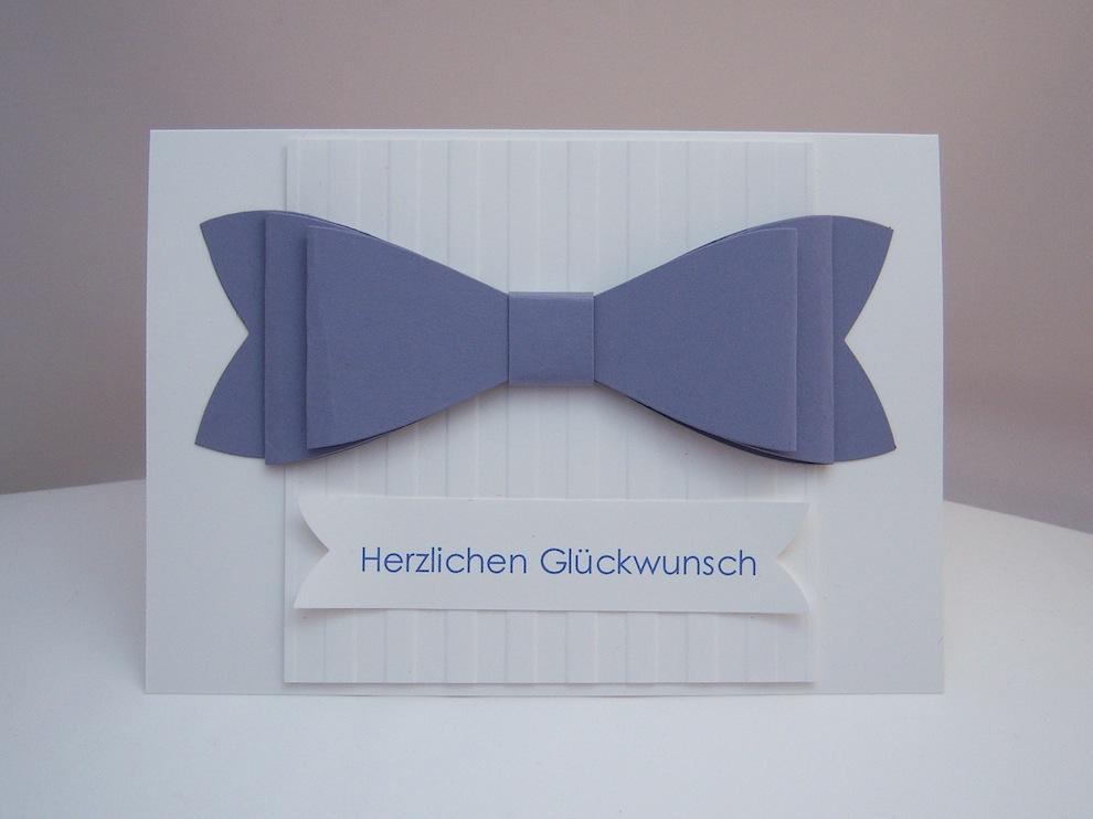 Geburtstag - Geburtstagskarte Schleife blauregen