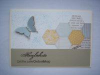 Geburtstagskarte Schmetterling pastell