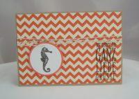 Geburtstagskarte Seepferdchen