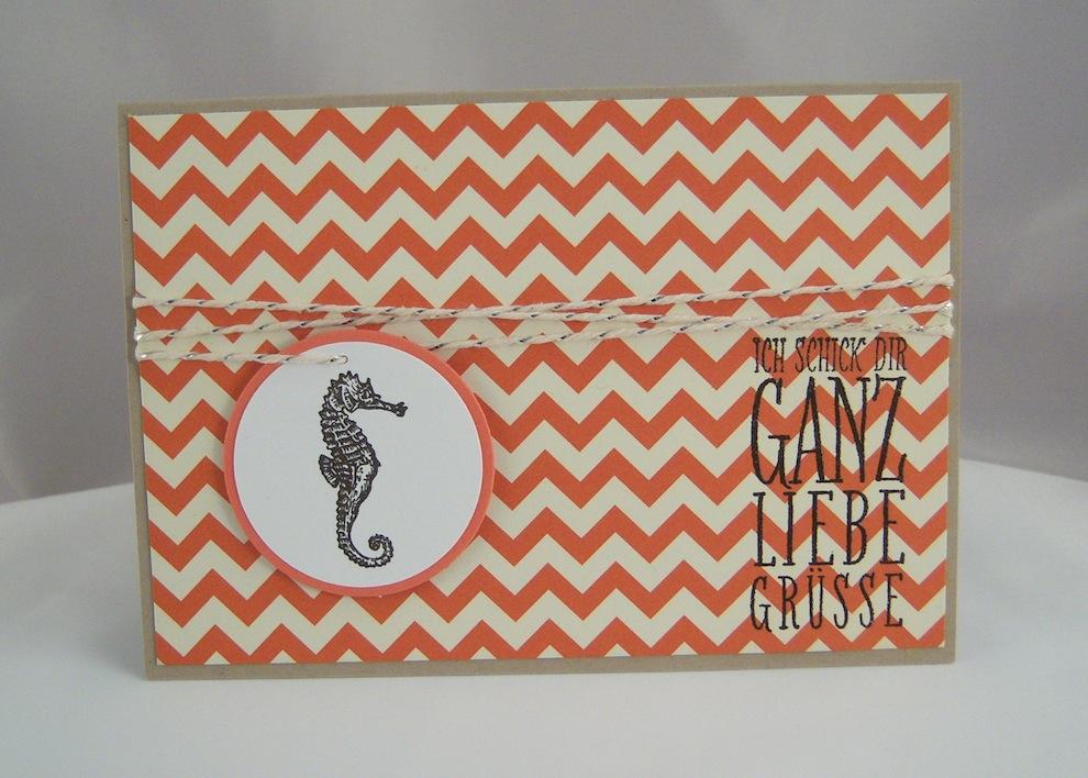 Geburtstag - Geburtstagskarte Seepferdchen