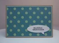 Geburtstagskarte Sprechblase Punkte