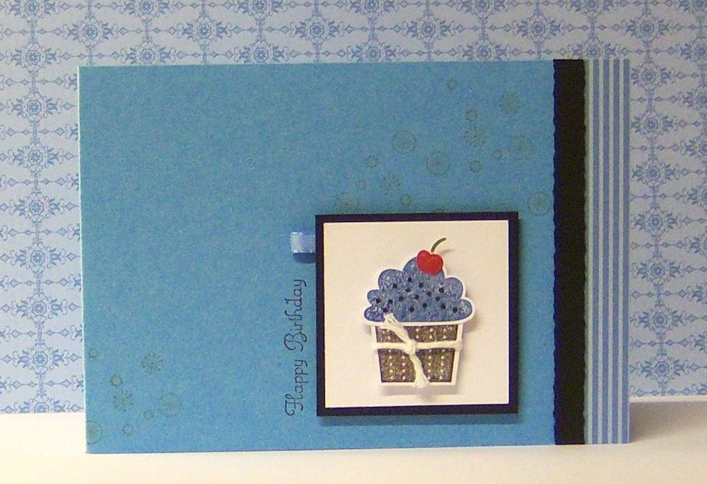 Geburtstag - Geburtstagskarte Toertchen blau
