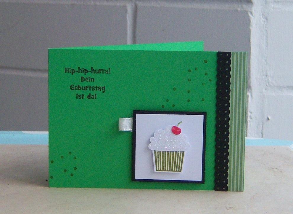 Geburtstag - Geburtstagskarte Toertchen gruen