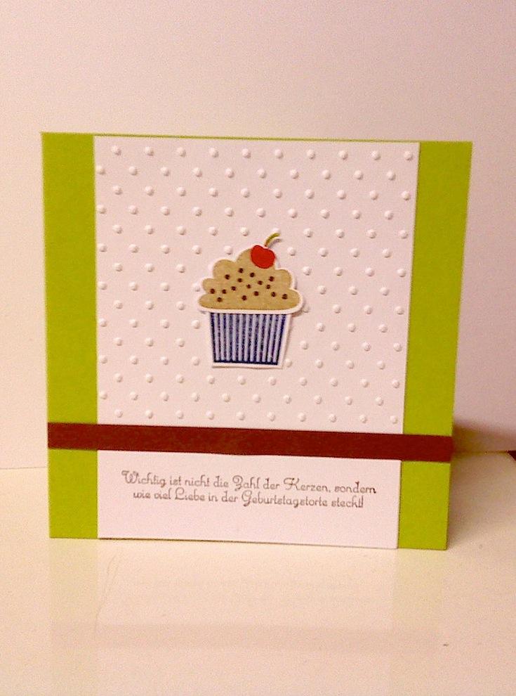 Geburtstag - Geburtstagskarte Toertchen gruen schlicht