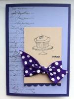 Geburtstagskarte Torte Schleife