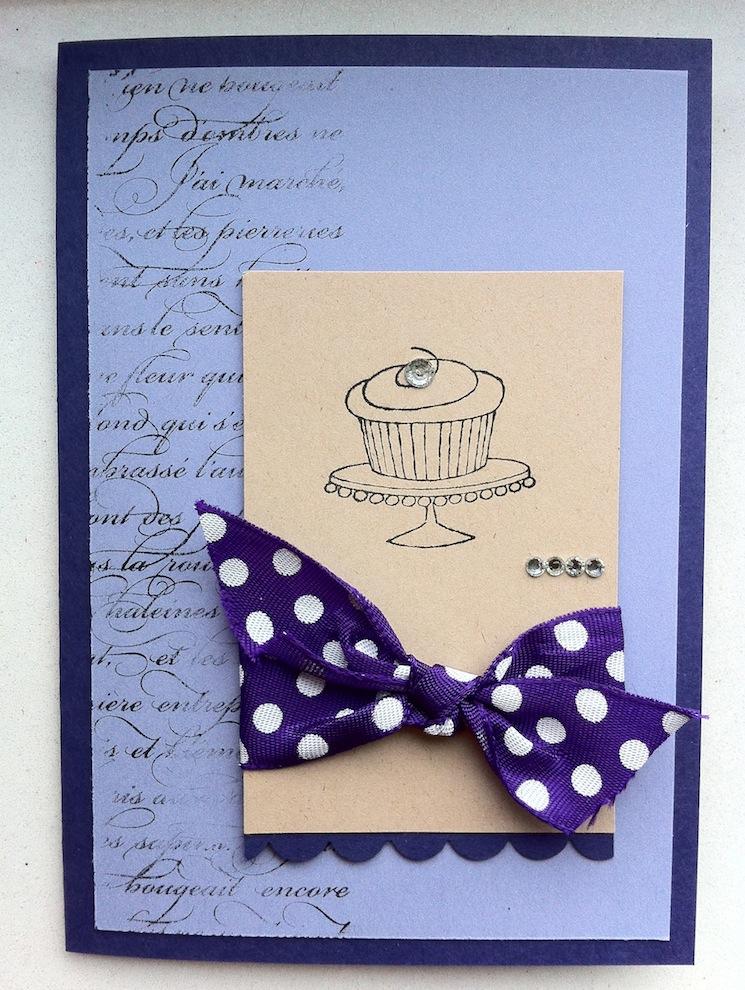 Geburtstag - Geburtstagskarte Torte Schleife