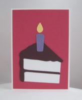 Geburtstagskarte Tortenstück