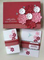 Geburtstagskarte Verpackung Buch Blumen 1