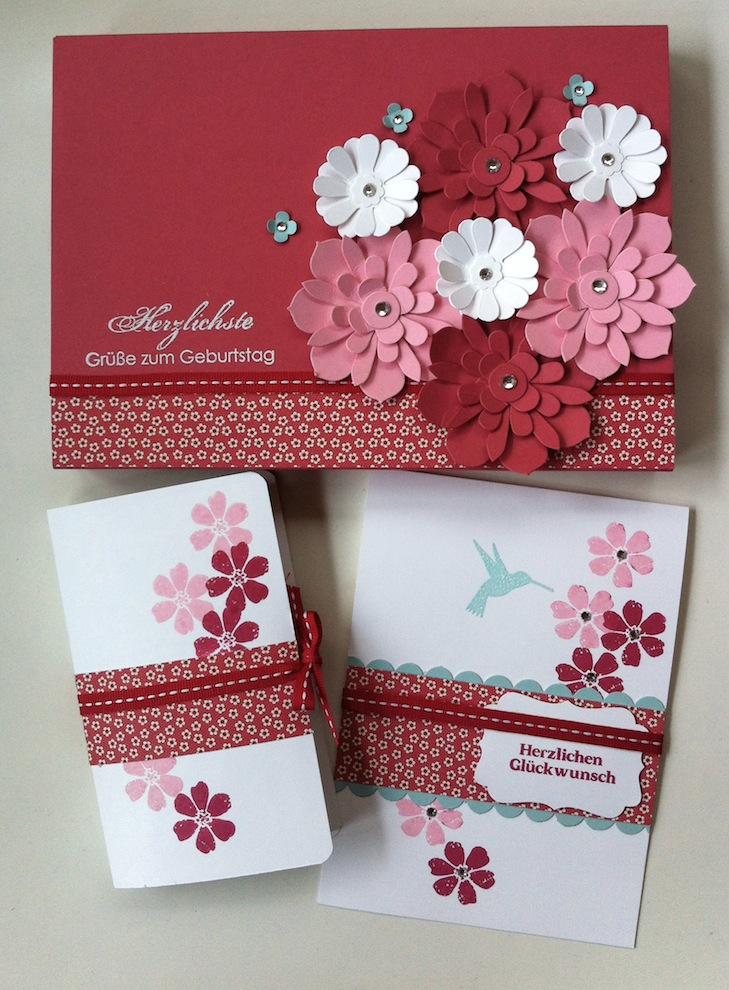 Geburtstag, Verpackungen - Geburtstagskarte Verpackung Buch Blumen 1