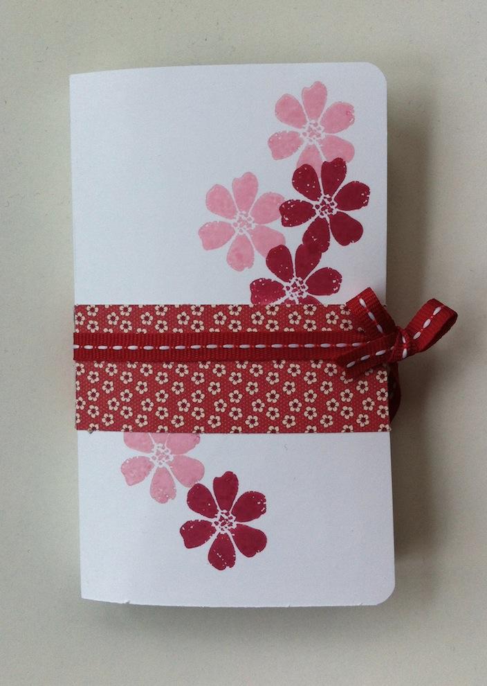 Geburtstagskarte Verpackung Buch Blumen 3