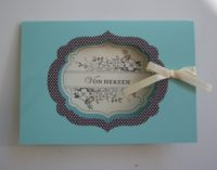 Geburtstagskarte Von Herzen Aquamarin