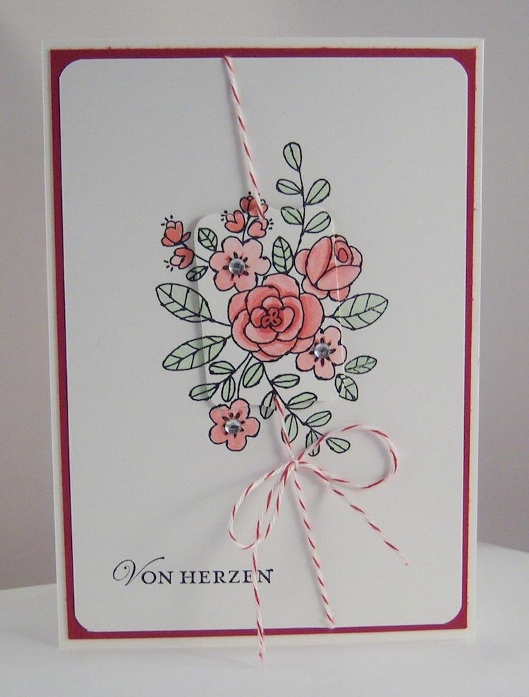Geburtstag - Geburtstagskarte Von Herzen Blumen