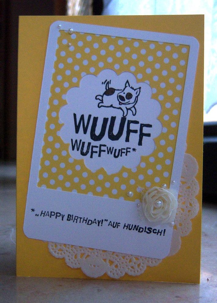 Geburtstagskarte WUFFWUFF Hund