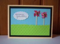 Geburtstagskarte Windräder