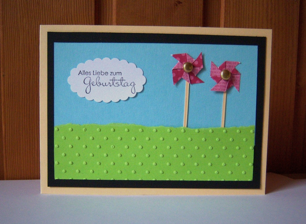 Geburtstag - Geburtstagskarte Windräder