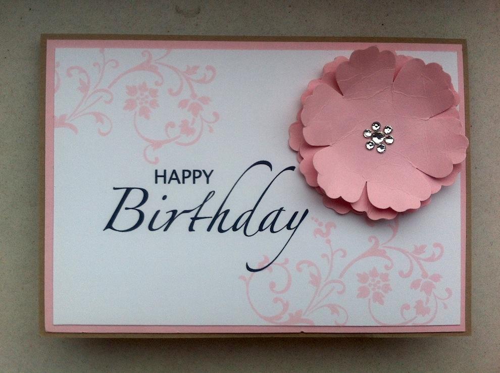 Geburtstag - Geburtstagskarte grosse Blume rosa