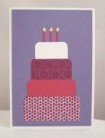 Geburtstagskarte große Torte