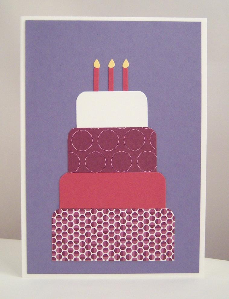 Geburtstag - Geburtstagskarte große Torte