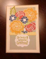 Geburtstagskarte verschiedene Blumen
