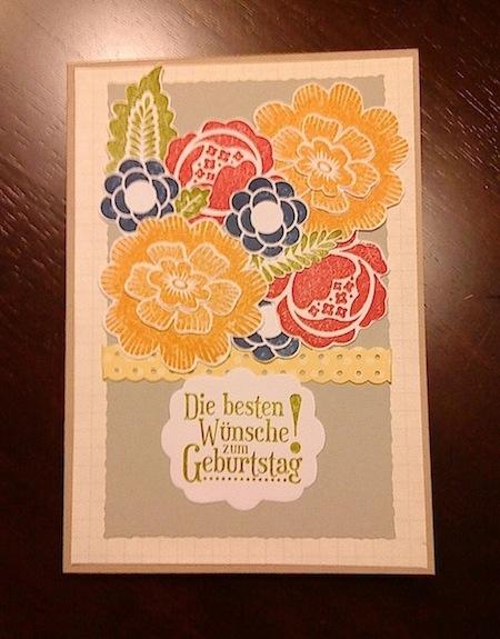 Geburtstag - Geburtstagskarte verschiedene Blumen