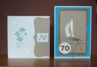 Geburtstagskarten zum 70ten Geburtstag Blume Schiff