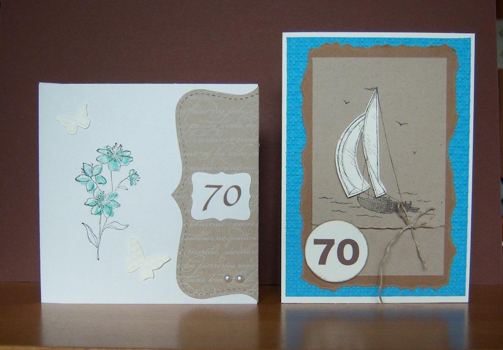 Geburtstag - Geburtstagskarten zum 70ten Geburtstag Blume Schiff