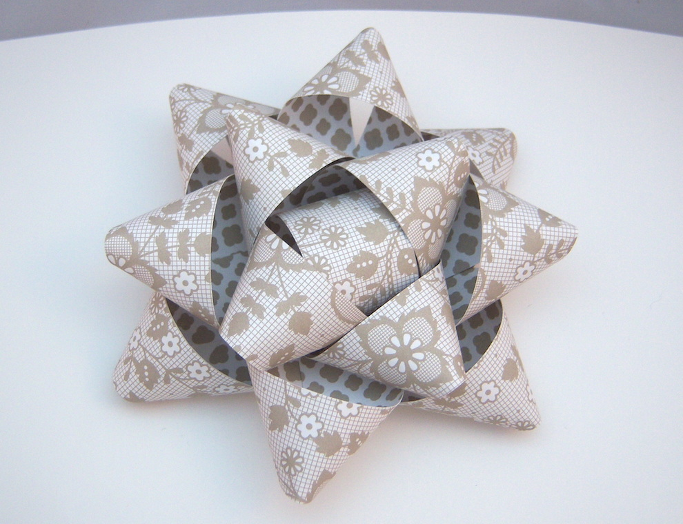 Verpackungen - Geschenkschleife Neutralfarben 13cm