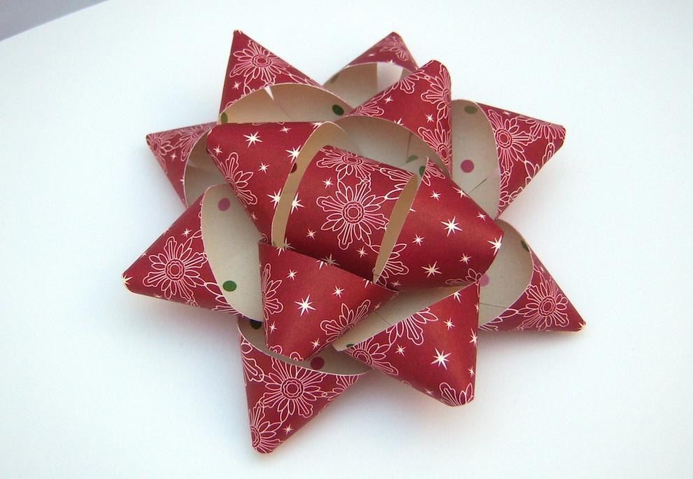 Verpackungen - Geschenkschleife X-Mas rot 13cm