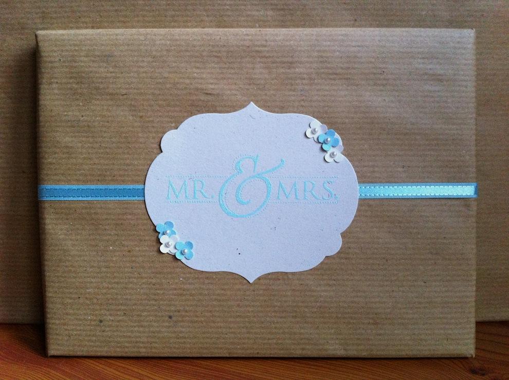 Hochzeit, Verpackungen - Geschenkverpackung Mr & Mrs