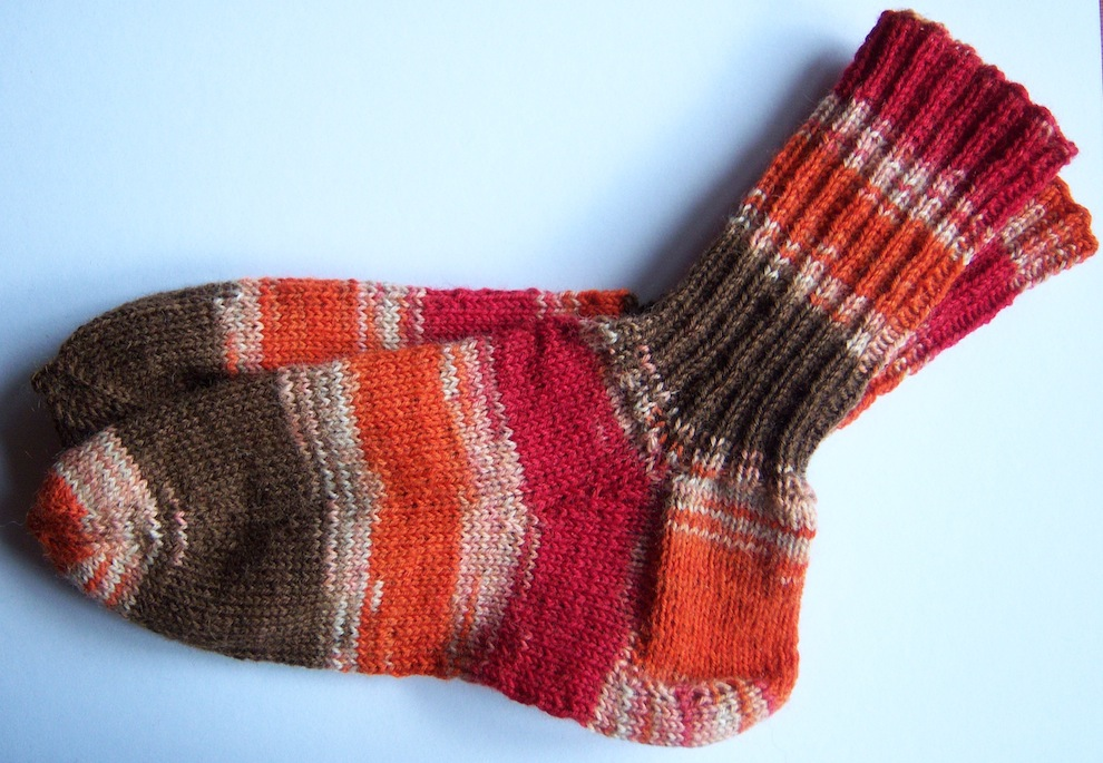 Gestricktes - Gestrickte Socken orange