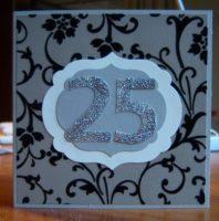 Grußkarte 25 Jubilaeum