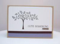 Grußkarte Baum Gute Besserung