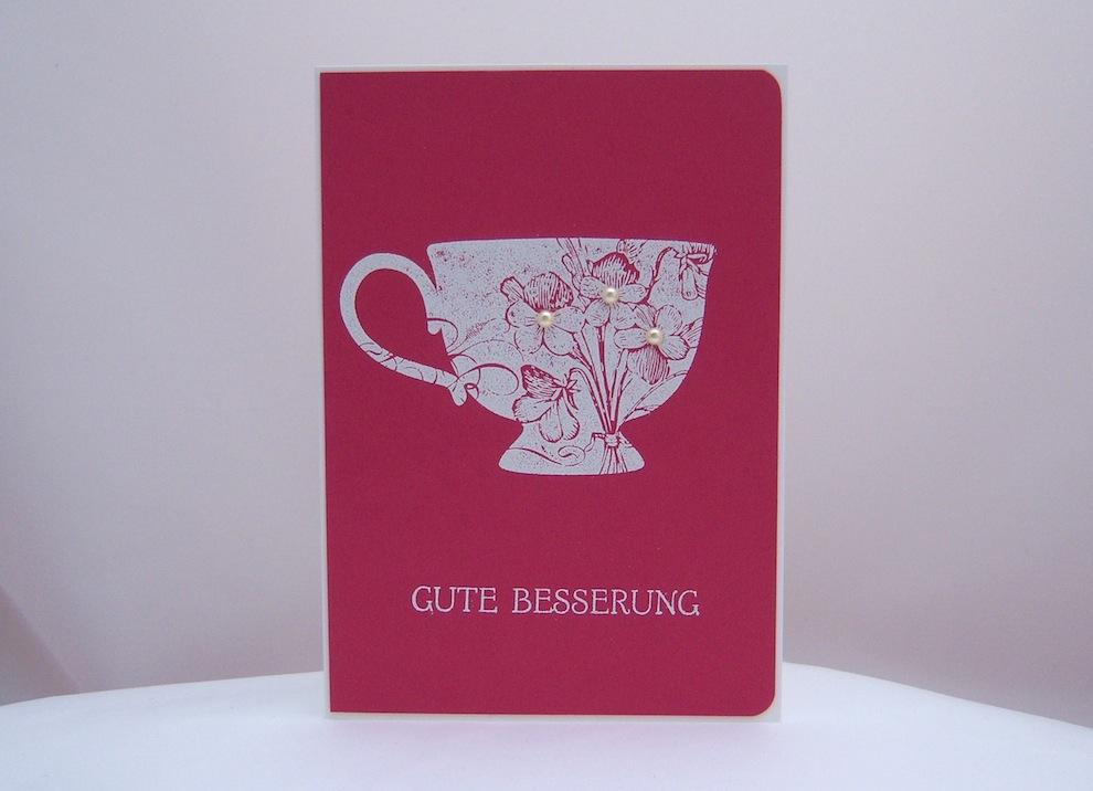 Grußkarte Gute Besserung Tasse