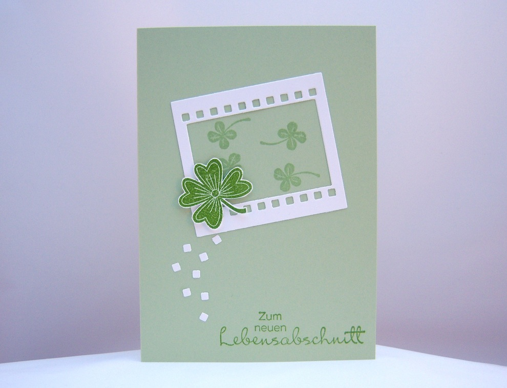 Sonstiges - Grußkarte Kleeblatt