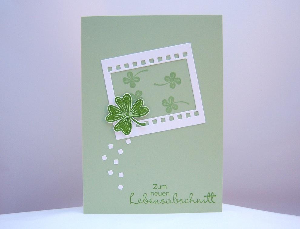 Grußkarte Kleeblatt