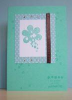 Grußkarte Schoener Tag Blumen