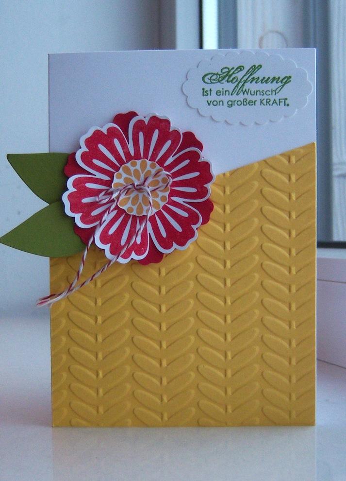 Sonstiges - Grußkarte grosse Blume