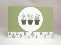 Grusskarte Blumentöpfe 1