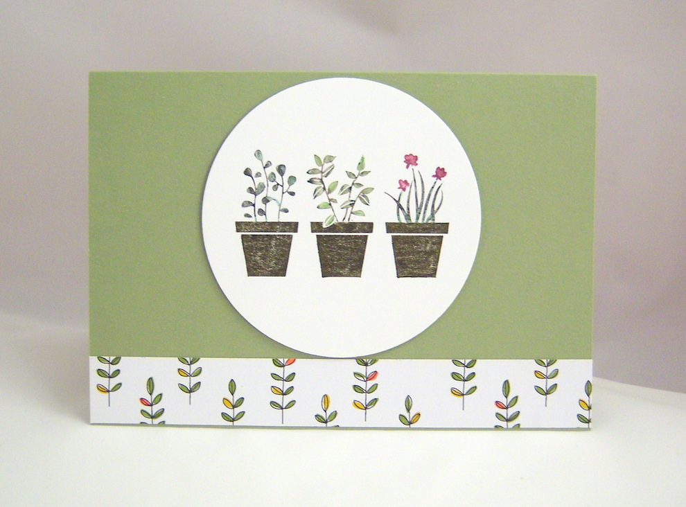 Sonstiges - Grusskarte Blumentöpfe 1