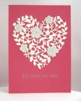 Hochzeitskarte Blumenherz