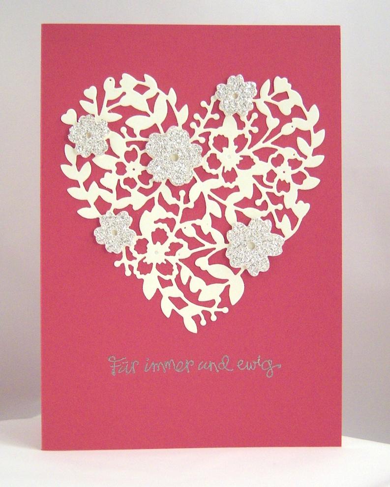 Hochzeit - Hochzeitskarte Blumenherz