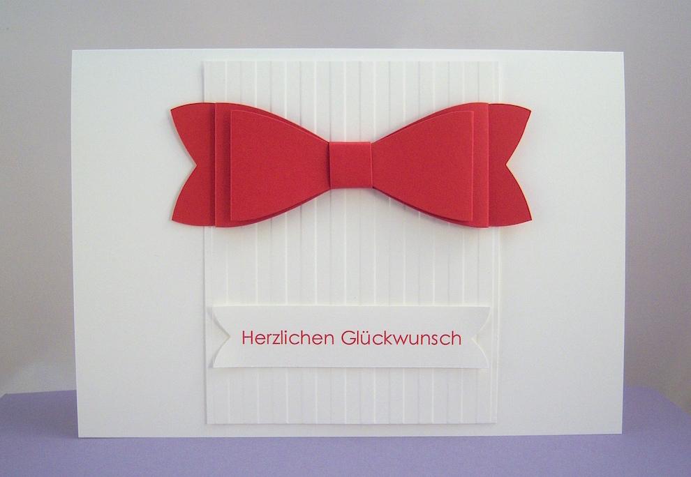 Hochzeit - Hochzeitskarte Schleife im DIN A5 Format